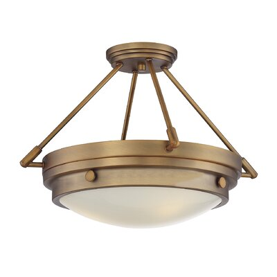 Aralene 3-Light Semi-Flush Mount Finish: Warm Brass