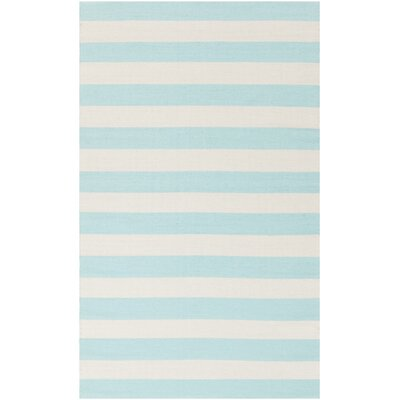 Mitchell Beige/Mint Striped Rug Rug Size: 33 x 53