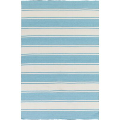 Breakwater Bay Rutledge Sky Blue/Ivory Indoor/Outdoor Area Rug