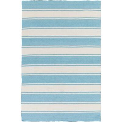 Rutledge Sky Blue/Ivory Indoor/Outdoor Area Rug Rug Size: 4 x 6