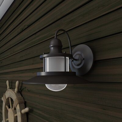 Commodore 1-Light Outdoor Barn Light Size: 11.25 H x 14.25 W x 15.5 D