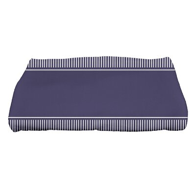 Dashing Stripe Bath Towel Color: Navy Blue