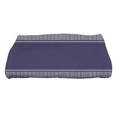 Ridgemoor Dashing Stripe Bath Towel Color: Navy Blue