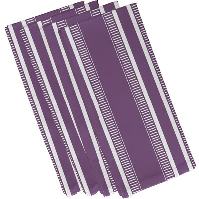 Lindale Dashing Stripe Napkin Color: Purple