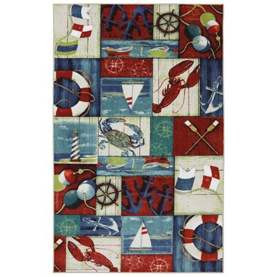 Dartmoor N is for Nautical Area Rug Rug Size: 5 x 8