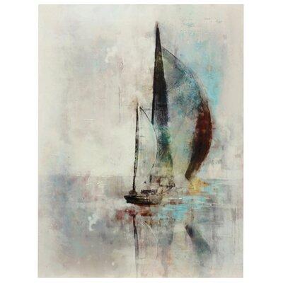 'Hazy Sailboat' Painting Print on Canvas