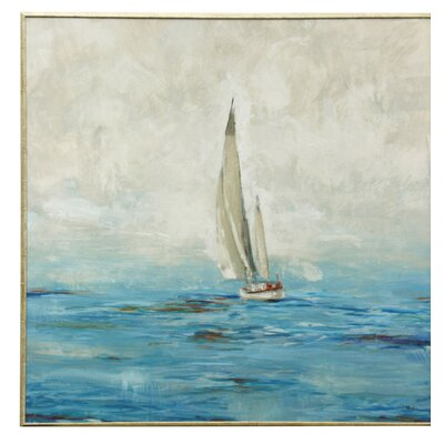 One Boat Framed Painting Print