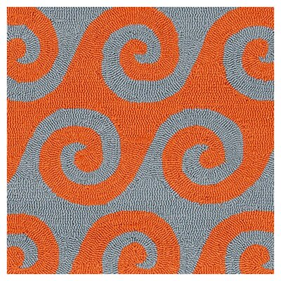 Breakwater Bay Orchid  Burnt Orange Area Rug