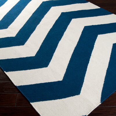 Highlands Dark Blue/White Area Rug Rug Size: Runner 26 x 8