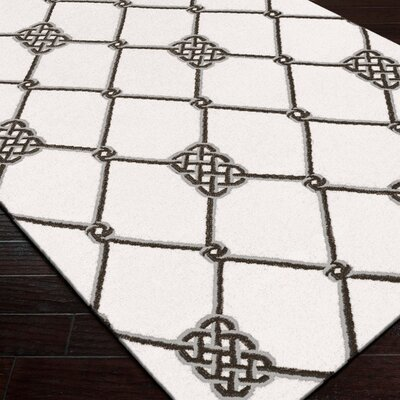 Breakwater Bay Highlands Ivory/Pewter Geometric Area Rug
