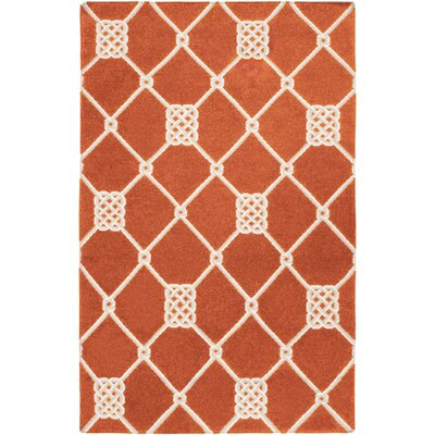 Highlands Orange Adobe Geometric Area Rug Rug Size: Rectangle 5 x 8