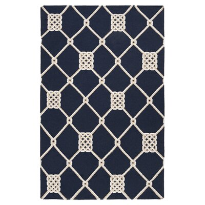 Highlands Blue Federal Geometric Area Rug Rug Size: 2 x 3