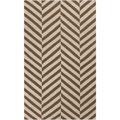 Highlands Beige/Mocha Area Rug Rug Size: Rectangle 36 x 56