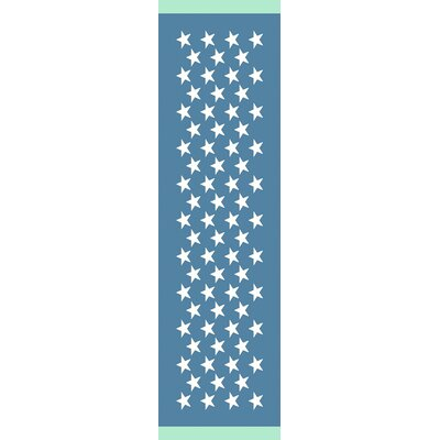 Walden Hand-Woven Teal Indoor/Outdoor Area Rug Rug Size: Runner 26 x 8