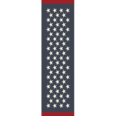 Breakwater Bay Walden Navy Indoor/Outdoor Rug