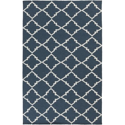 Breakwater Bay Highlands Ivory/Navy Geometric Rug