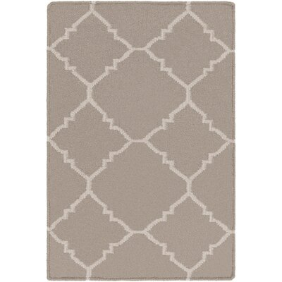 Darby Putty Hand-Woven Area Rug Rug Size: Rectangle 5 x 8