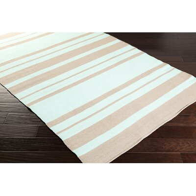 Walden Hand-Woven Mint/Taupe Outdoor Area Rug Rug size: 33 x 53