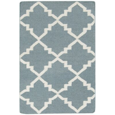 Darby Hand-Woven Blue Area Rug Rug Size: Rectangle 36 x 56