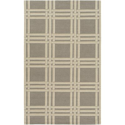 Abington Hand-Hooked Gray Area Rug Rug size: Rectangle 4 x 6