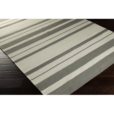 Highlands Hand-Woven Khaki/Medium Gray Area Rug Rug size: 2 x 3