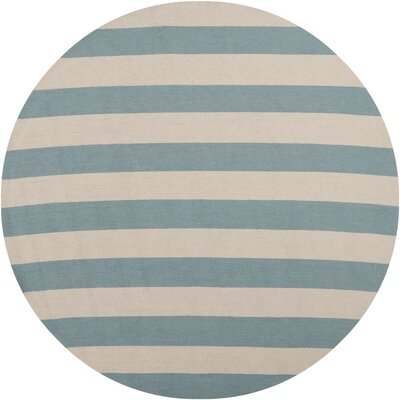 Breakwater Bay Orchid Hand-Hooked Teal/Beige Indoor/Outdoor Area Rug