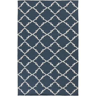 Darby Hand-Woven Navy Area Rug Rug Size: Rectangle 2 x 3