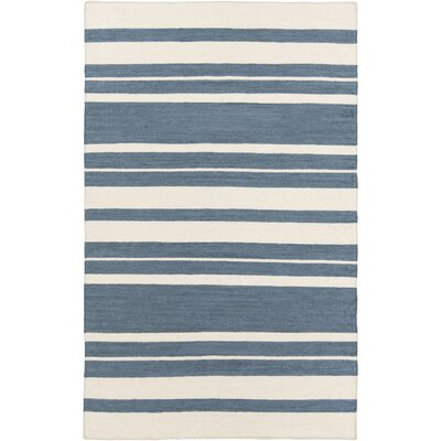 Highlands Hand-Woven Denim/Khaki Area Rug Rug size: 36 x 56