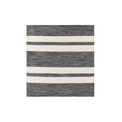 Winnwood Hand-Woven Grey/Black Indoor/Outdoor Area Rug Rug Size: Rectangle 76 x 96