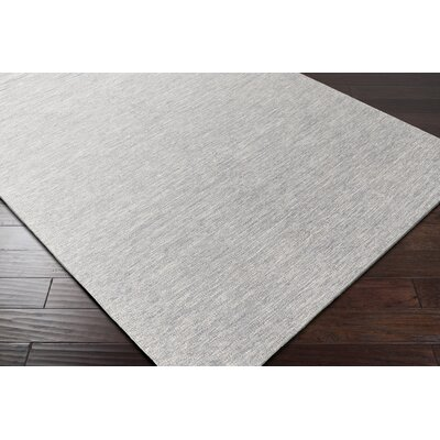 Breakwater Bay Winnwood Hand-Woven Grey/White Area Rug
