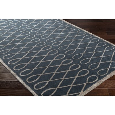 Cheshire Hand-Tufted Blue Area Rug Rug Size: 5 x 8