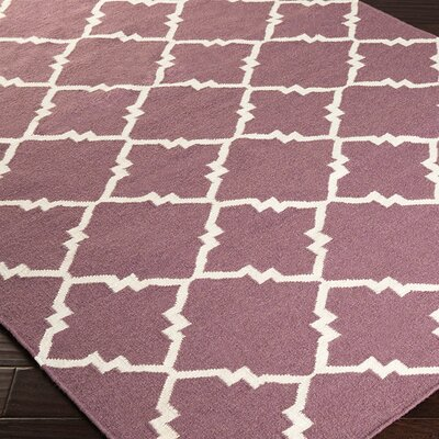 Highlands Prune Purple Geometric Area Rug Rug Size: 2 x 3