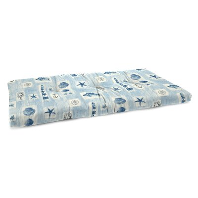 Indoor Bench Cushion Fabric: Beachcomber Surf