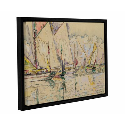Departure of Tuna Boats at Groix by Paul Signac Framed Painting Print on Wrapped Canvas