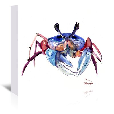 Crab 3 Painting Print on Wrapped Canvas