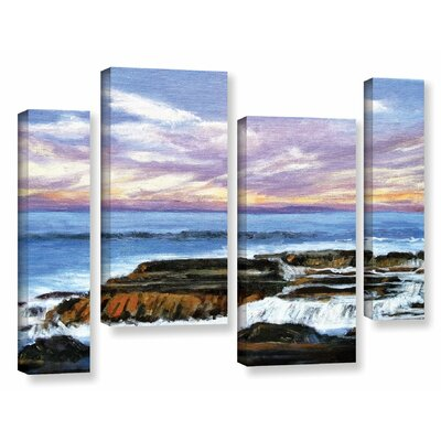 Rolling Water 4 Piece Painting Print on Wrapped Canvas Set Size: 24