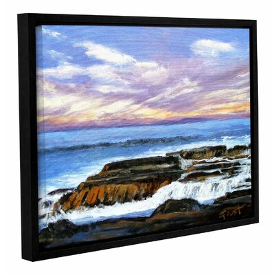 Rolling Water Framed Painting Print on Wrapped Canvas Size: 14