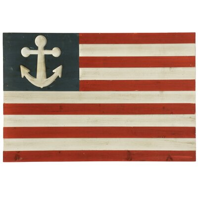 Wooden Nautical Flag Painting Print