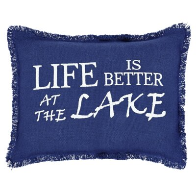 Carter Life is Better at the Lake 100% Cotton Lumbar Pillow
