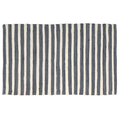 Winthrope Gray/Cream Area Rug Rug Size: 2 x 3