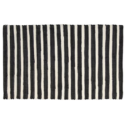 Winthrope Black/Ivory Area Rug Rug Size: Rectangle 2 x 3