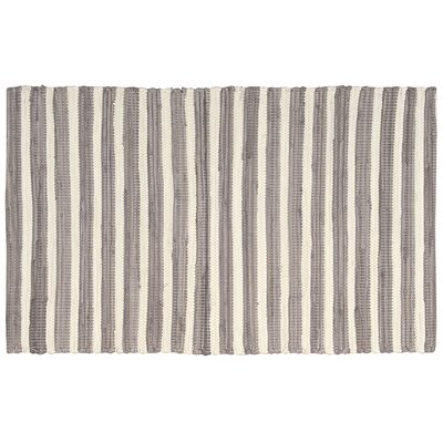 Winthrope Gray/Cream Area Rug Rug Size: 2' x 3'