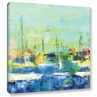 Abstract Harbor 4 Lovely Saturday Painting Print on Wrapped Canvas Size: 10