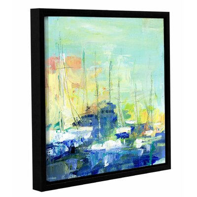 Abstract Harbor 5 Saturday on the Water Framed Painting Print on Wrapped Canvas Size: 10