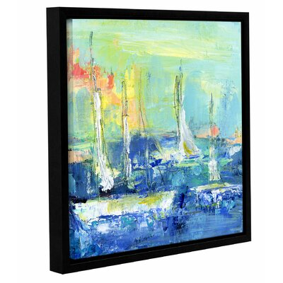Abstract Harbor 6 Relaxing Day Framed Painting Print on Wrapped Canvas Size: 10