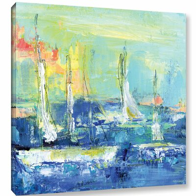 Abstract Harbor 6 Relaxing Day Painting Print on Wrapped Canvas Size: 10