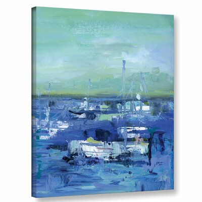 Abstract Harbor 14 Just Happy Painting Print on Wrapped Canvas Size: 10