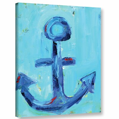 'Nautical Anchor' Painting Print on Wrapped Canvas Size: 10