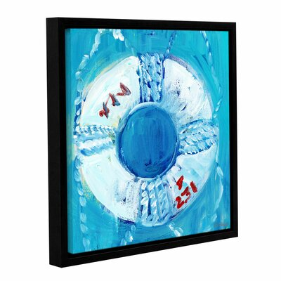 'Nautical Life Ring' Framed Painting Print on Wrapped Canvas Size: 10