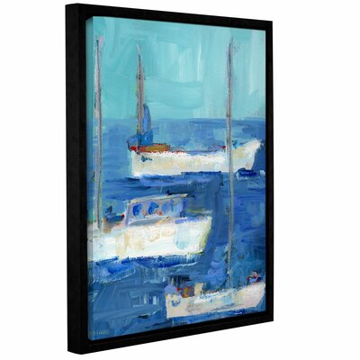 'Nautical Boats' Framed Painting Print on Wrapped Canvas Size: 10